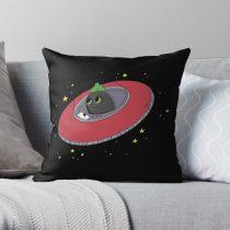 Coaltoons UFO and Stars Throw Pillow